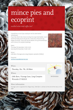 mince pies and ecoprint