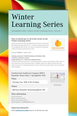 Winter Learning Series