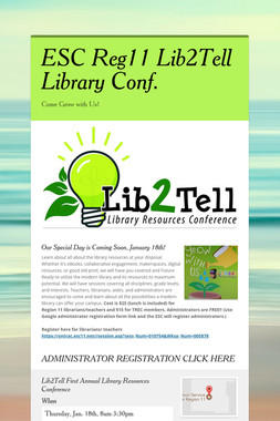 ESC Reg11 Lib2Tell Library  Conf.