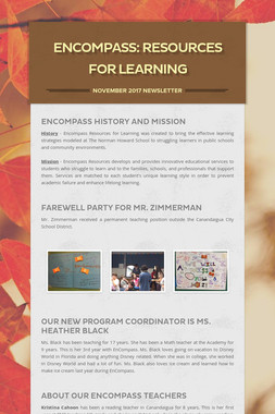EnCompass: Resources for Learning