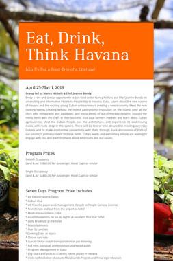 Eat, Drink, Think Havana