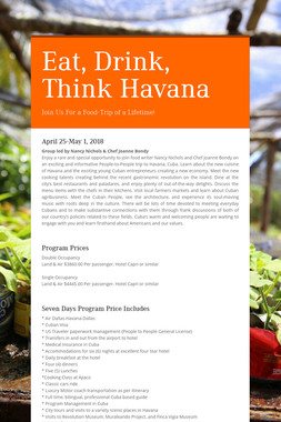 Eat, Drink, Think Havana