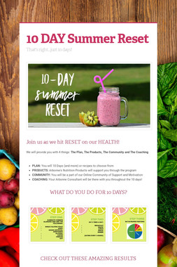 10 DAY Summer Reset