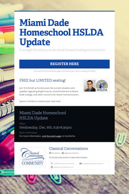 Miami Dade Homeschool HSLDA Update