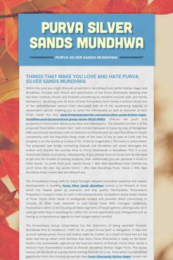 Purva Silver Sands Mundhwa