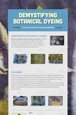 demystifying botanical dyeing