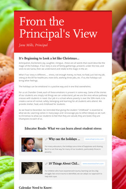 From the Principal's View