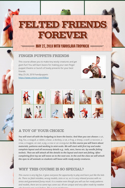 Felted Friends Forever