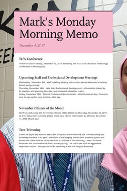 Mark's Monday Morning Memo