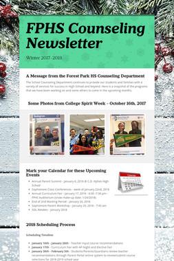FPHS Counseling Newsletter