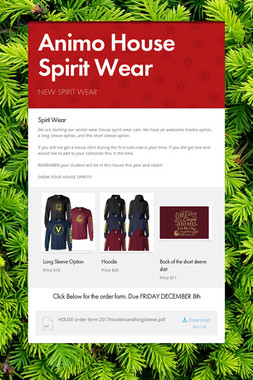 Animo House Spirit Wear