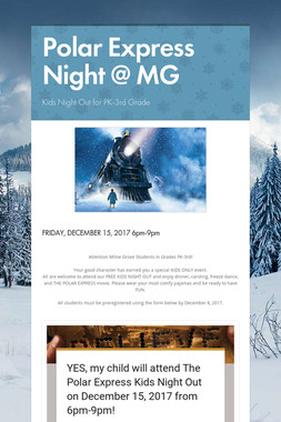 Polar Express Night @ MG