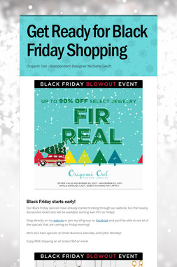 Get Ready for Black Friday Shopping