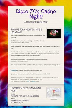 Disco 70's Casino Night!