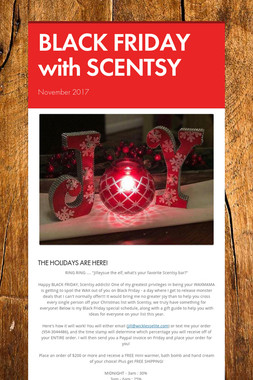 BLACK FRIDAY with SCENTSY