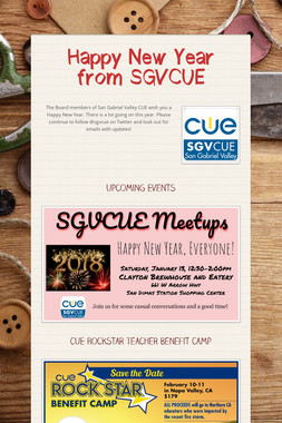 Happy New Year from SGVCUE