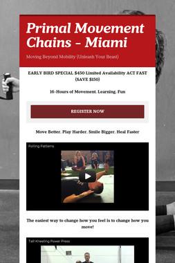 Primal Movement Chains - Miami