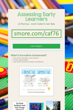 Assessing Early Learners