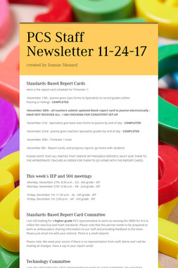 PCS Staff Newsletter 11-24-17