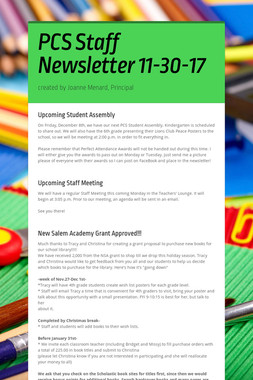 PCS Staff Newsletter 11-30-17