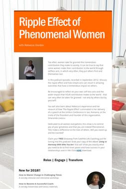 Ripple Effect of Phenomenal Women