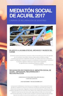 MEDIATÓN SOCIAL DE ACURIL 2017