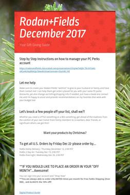 Rodan+Fields December 2017