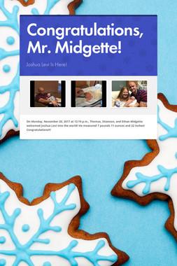 Congratulations, Mr. Midgette!