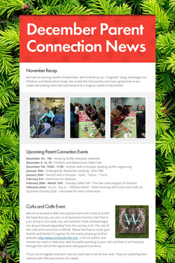 December Parent Connection News