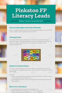 Pinkston FP Literacy Leads