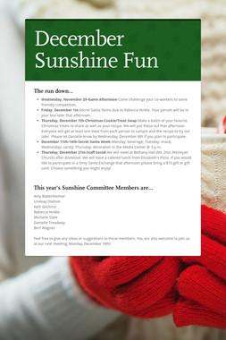 December Sunshine Fun