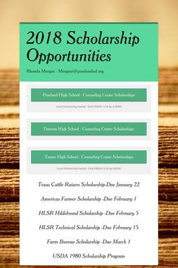 2018 Scholarship Opportunities
