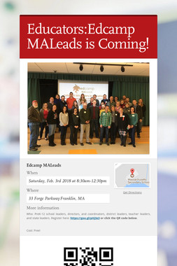 Educators:Edcamp MALeads is Coming!