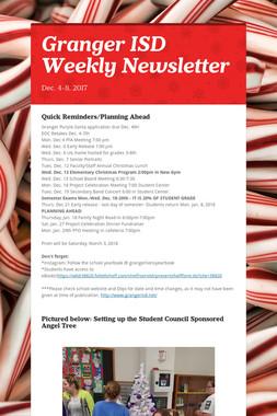 Granger ISD Weekly Newsletter