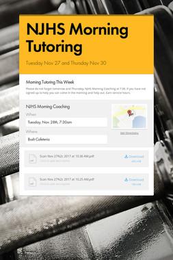 NJHS Morning Tutoring