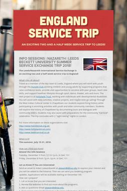 England Service Trip