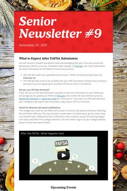Senior Newsletter #9