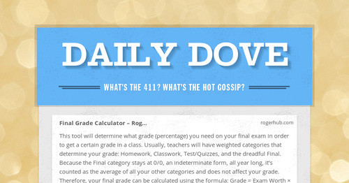 Daily Dove Smore Newsletters For Education