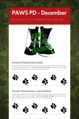 PAWS PD - December