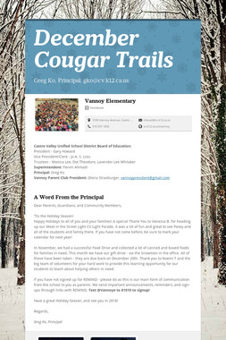 December Cougar Trails