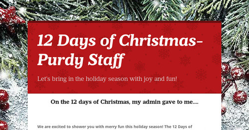 12 days of christmas purdy staff smore newsletters