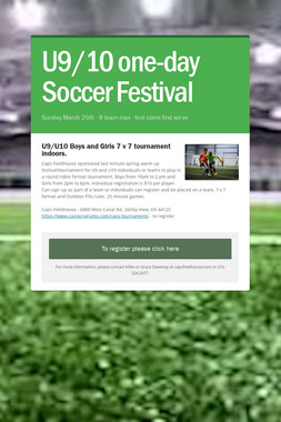 U9/10 one-day Soccer Festival
