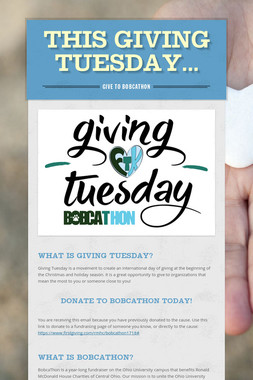this Giving tuesday...