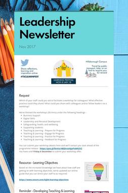 Leadership Newsletter