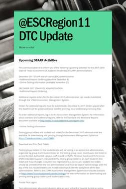 @ESCRegion11 DTC Update