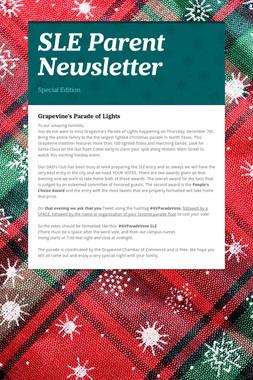 SLE Parent Newsletter