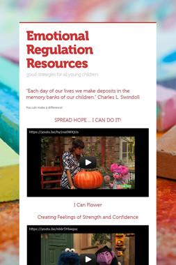 Emotional Regulation Resources