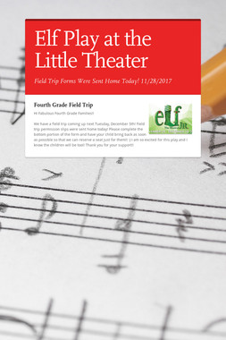 Elf Play at the Little Theater