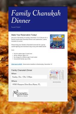 Family Chanukah Dinner