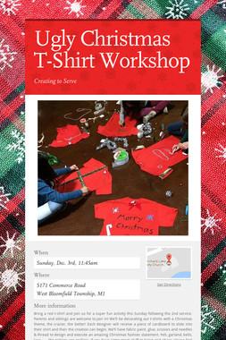 Ugly Christmas T-Shirt Workshop